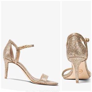 MICHAEL KORS Simone Glitter Mesh Sandal Size 10M